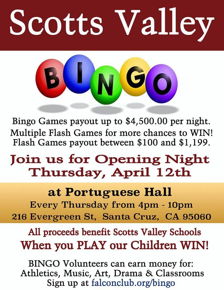 SVHS Bingo Night!